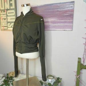 Nike Army dark green track jacket womens small